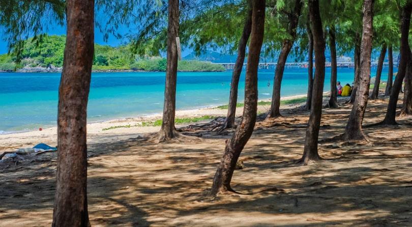 Dancing girl beach