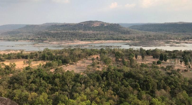 Вид на Лаос